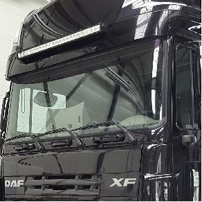 Ledbar gemonteerd op Daf Truck