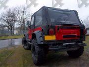 Ledbar Sk116 van 4SKY Lights op achterzijde Wrangler Jeep