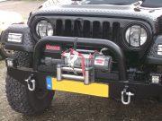 Led verstralers gemonteerd op Wrangler Jeep TJ