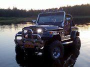 Jeep CJ7 met led verstralers