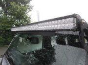Combo Pro Plus Ledbar gemonteerd op raam Wrangler JK