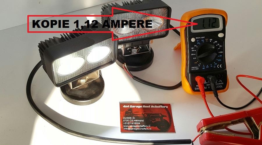 led werklampen vergelijken op stroomverbruik