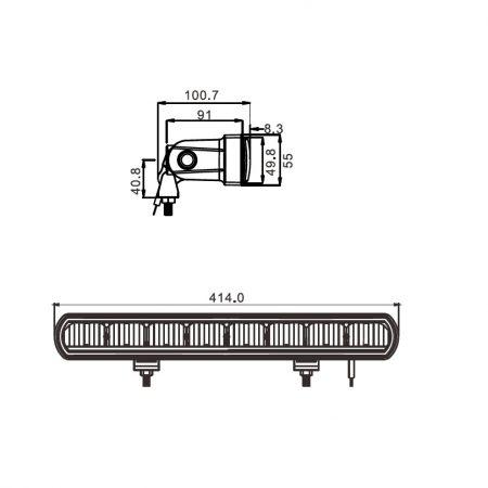 Ledbar Zero Clare Uno 80 watt 4SKY Lights