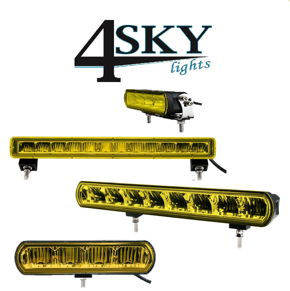 Ledbar gekeurd Zero Glare Bright Yellow