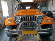 Led koplamp met SK204 van 4SKY Lights op Jeep TJ