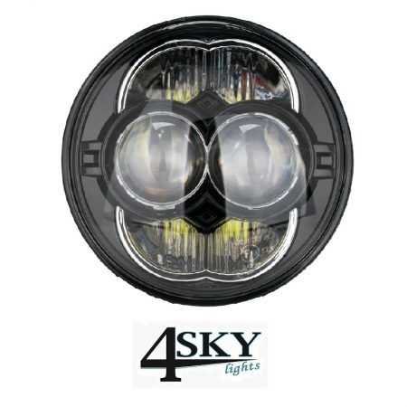 Motor Led koplamp black 5,75 inch