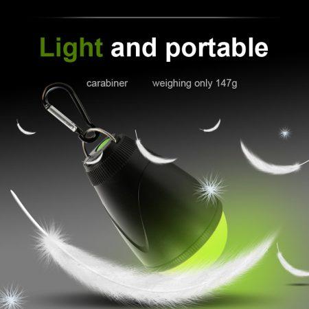ANT-20 anti muggen led-lamp oplaadbaar is licht en makkelijk mee te nemen
