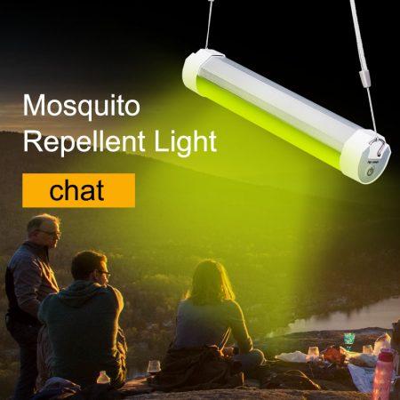 Oplaadbare led lamp met speciaal licht tegen muggen
