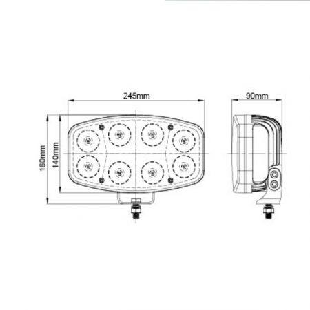 Tekening led verstraler VQ-801