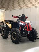 Led light bar SK601 met positielicht op Quad van Can Am