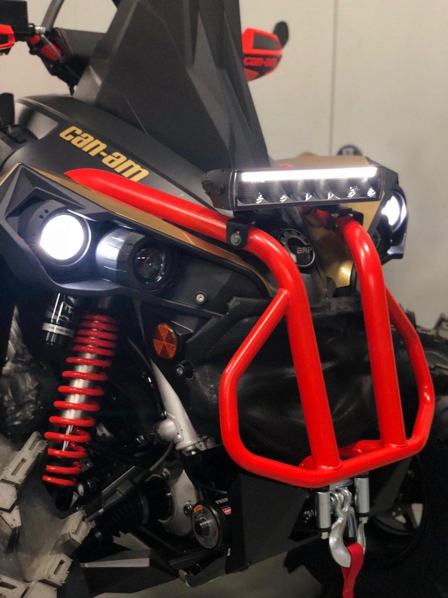 Led Light bar SK610S gemonteerd op Can Am Quad
