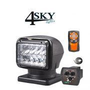 Elektrische led zoeklamp zwart
