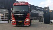 led verstraler SK1210R 24V gemonteerd op MAN Truck