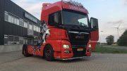 Man Truck met 4 Led verstralers 24V 12.000 lumen per stk