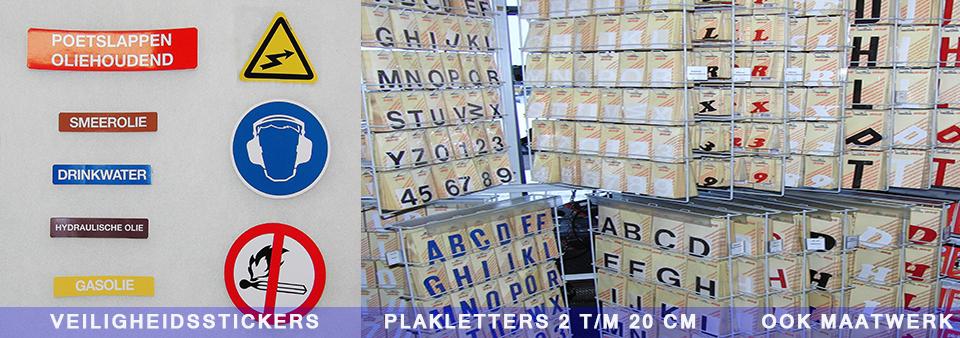Veiligheid stickers en plakletters