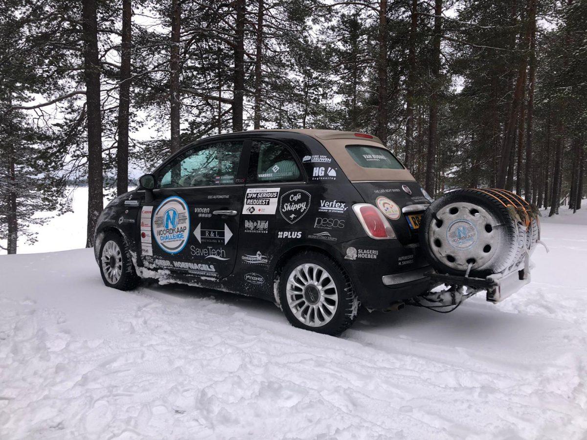 Noordkaap challenge 2019 met teamBussel 4SKY Lights
