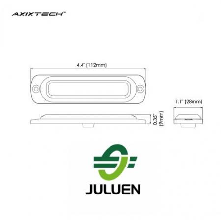 Axixtech ST6 led flitser Juluen R10 r65 tekening
