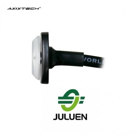 Axixtech ST6 led flitser Juluen R10 r65 zijaanzicht