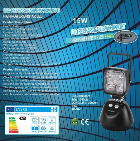 led-lamp batterij 12V - 24V